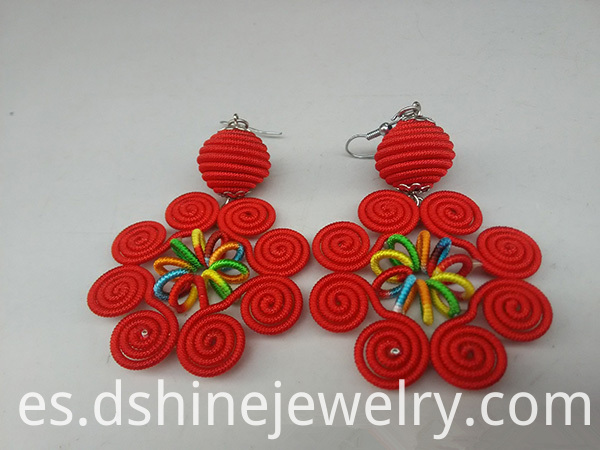 Multicolor Ethnic Handmade Thread Earring